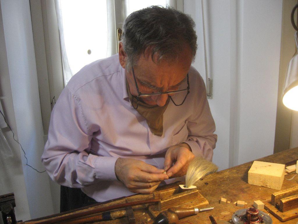 Maestro Lucchi al lavoro